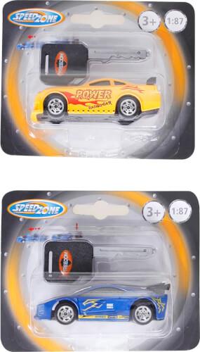 Speed Zone D/C Rennwagen mit Starter, 1:87, 2-fach sortiert, 125x100 mm, ab 3 Jahren