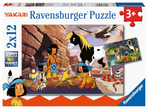 Ravensburger 05069 Puzzle Unterwegs mit Yakari 2x12 Teile