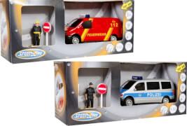Speedzone D/C Einsatzfahrzeug-Van, 1:32, Licht & Sound