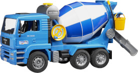 Bruder 02744 MAN Betonmisch-LKW, ab 4-12 Jahren, Maße: 52 x 18 x 27 cm, Kunststoff