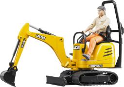 Bruder 62002 Mikrobagger 8010CTS und Bauarbeiter