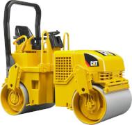 Bruder 02433 CAT-Tandem Vibrationswalze, Maße: 29,5 x 12,5 x 21 cm, Kunststoff, ab 3 Jahre