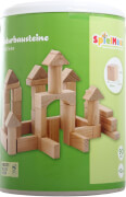 SpielMaus Holz Naturbausteine, 25 mm, Made in Germany