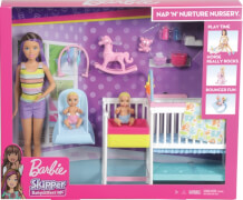 Mattel GFL38 Barbie ''Skipper Babysitters Inc.'' Nursery Playset