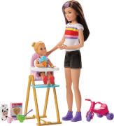 Mattel GHV87 Barbie #Skipper Babysitters Inc.'' Puppen und Feeding Fun Playset