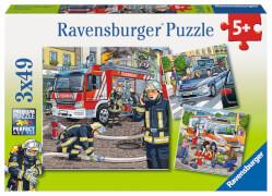 Ravensburger 09335 Puzzle Helfer in der Not 3 x 49 Teile