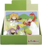 SpielMaus Holz Einlegepuzzle 4-teilig, 3-fach sortiert, 4-teilig, ca. 22,5x22,5x0,8 cm, ab 12 Monaten (nicht frei wählbar)