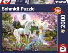 Schmidt Spiele Puzzle Fee und Einhorn 2000 Teile