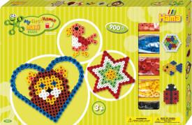 HAMA Bügelperlen Maxi - Gigantische Geschenkpackung grün - 2 Stiftplatten 900 St
