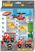 HAMA Bügelperlen Geschenkpackung Feuerwehr 2.000 Stück