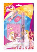 Mia and Me Schreibset 5-teilig mit 2 Bleistiften, Radierer, Spitzer, Notizblock