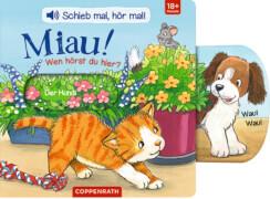 Schieb mal, hör mal!: Miau! Wen hörst du hier? (Soundbuch)