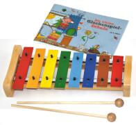 Voggenreiter Buntes Glockenspielset mit Buch Kleine Glockenspielschule