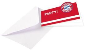 8 Einladungskarten FC Bayern München 13,9 x 8 cm