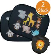 Universal-Auto-Sonnenschutzblenden mit Tierbaby-Motiv (2er-Pack inkl. Tasche)